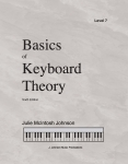 Basics of Keyboard Theory Level 7 (Early Advanced)